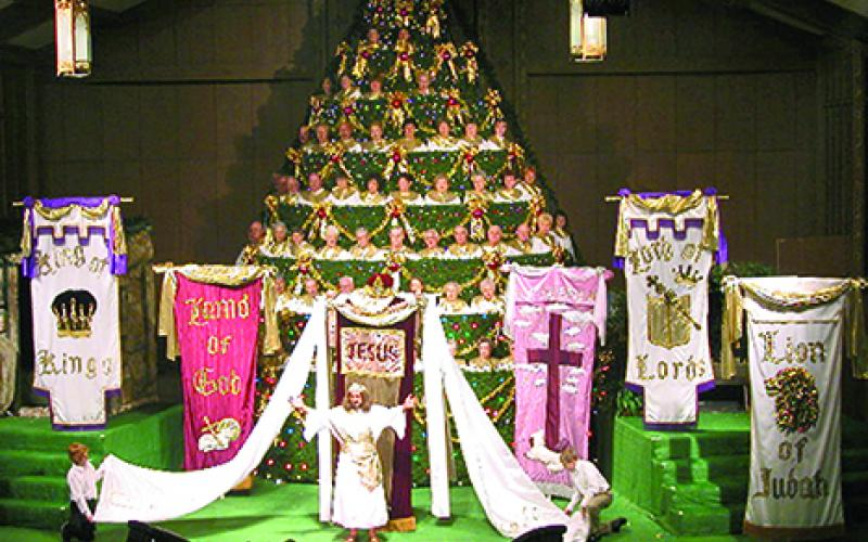 Living Christmas Tree Production To Be Presented This