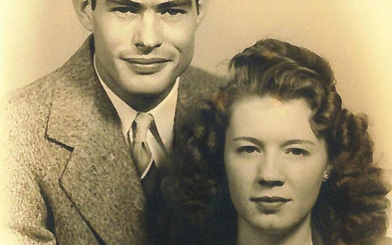 Ernest and Leveta (Bramlet) Sims, 1946