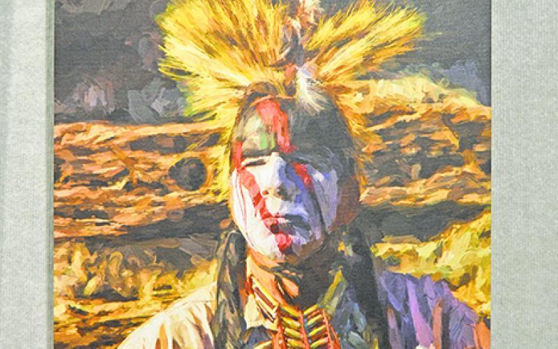 Cherokee Warrior,' Experimental Photography by Jack Milchanowski