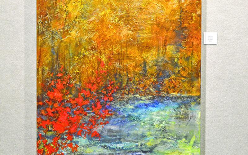'Canyon,' Acrylic by Kim Ward