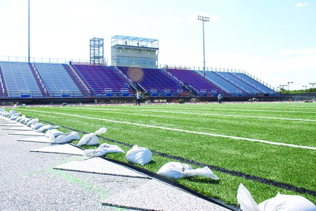 The extra layer under Newton Field should make the playing surface safer and increase the field's longevity.