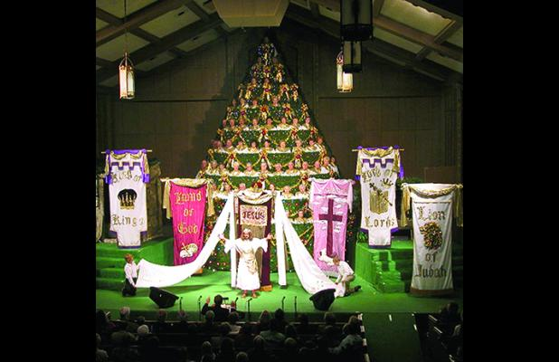 The 36th annual Living Christmas Tree, presented by First Baptist Church in Graham, takes place Dec. 9-11 at 7 p.m. nightly at the First Baptist Church auditorium, 620 4th St. The event is free and tickets are not needed. Contributed photo