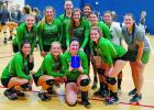 The Newcastle Ladycats gather for a photo after winning the Silver Bracket at the Bryson Tournament.