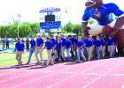 The Graham Steers enter Newton Field at the GHS Homecoming pep rally on Thursday afternoon.