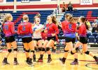 With no prior knowledge of the event, one may have walked into the Graham High School gym Friday at 5:00 p.m. thinking a team had just clenched a trip to the state tournament. Though the gravity of the game was not that crucial, the JV Blues' last-minute, come-from-behind win over Burkburnett sent good feelings through every Graham fan in attendance. The excitement from the players was a reminder of why sports can be incredible at any level, at any age. (Leader photo by David Flynn)