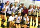 Top row from left, Britain Thayer, Celest Aguirre, Ryan Gober, Emily Schaefer, Jillian Wendel, Kaylee Clay, Meredith Armstrong, Lilli Brockway and Avery Iles; Bottom row from left, coach Sarah Curd, Jourdan Daily and Alex Husen. Courtesy photo