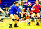 Nicole King has had over 20 digs in the last three games, and will be essential in the Blues' quest to avenge their previous loss to Burkburnett. (Leader photo by David Flynn)