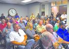 Crowds of Graham residents filled the Visitor and Business Center to voice their concerns over the recent higher water bill prices that began in July.