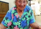 Thelma Harrell was named Most Senior Lady in attendance at the 64th annual Rocky Mound Reunion, held Saturday, Aug. 13, at the Woodland Elementary cafeteria.